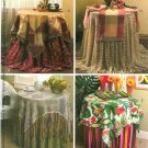 Tablecloth Sewing Pattern End Table Runner Topper Napkin Placemat Fringe Retro Gauze 5070