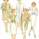 Retro Boxy Jacket Coat Sewing Pattern Sz 18 Top Skirt 2 Piece Dress Vintage Easy 80s 2336