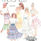 Tiered Skirt Sewing Pattern 14 16 Hippie Boho Gypsy Broomstick Petticoat Vintage 3079