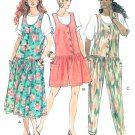 Jumper Jumpsuit Sewing Pattern Size 14 16 18  Pants Shorts Dress Top Vintage Easy 5513