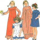 Vintage Pinafore Dress Pattern Girls 8 Child Costume Long Short Prairie Prim Country 5172