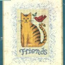 Tabby Cat Friends Counted Cross Stitch Kit 4 X 6 Red Robin Dimensions Matted Accents Easy