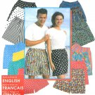 Pull On Shorts Sewing Pattern Easy Elastic Waist Unisex XXS XL Men Teen Women 9057