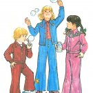 Child Leisure Suit Sewing Pattern Vintage Western Unlined Jacket Bell Bottom Pant Boy Girl 5 6533