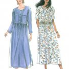 Raised Waist Dress Sewing Pattern XS-XL Easy Long Short Sleeve Loose Fit 9710