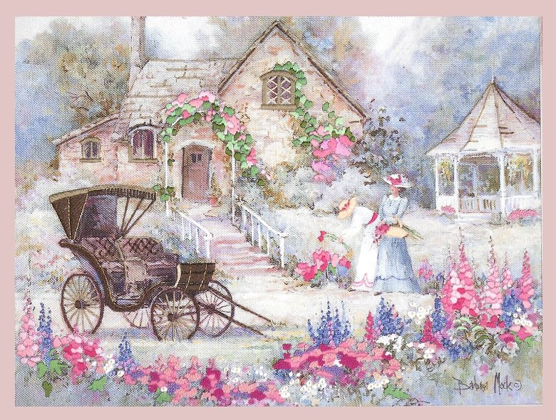 Victorian Carriage Crewel Embroidery Kit 16 X 12