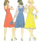 Sleeveless Tank Dress Sewing Pattern Vintage 10 32.5 Bust Fitted Jumper 70s Hippie Mod 7437