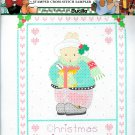 Daisy Kingdom Christmas Is Love Cross Stitch Stamped Aida Rabbit Winter Holiday Holly