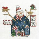 Janlynn Counted Cross Stitch Kit Snowman Snow Place Like Home Winter Holiday Lodge 8 x 8