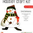 Snowman Craft Kit Felt Large 18 Inch Christmas Snow Winter Holiday Decor Shelf Mantle  Lori Siebert