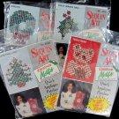 Sequin Art Christmas Motifs Applique Tree Holly Teddy Bear Wreath Lot 4 Sweatshirt Stocking Decor