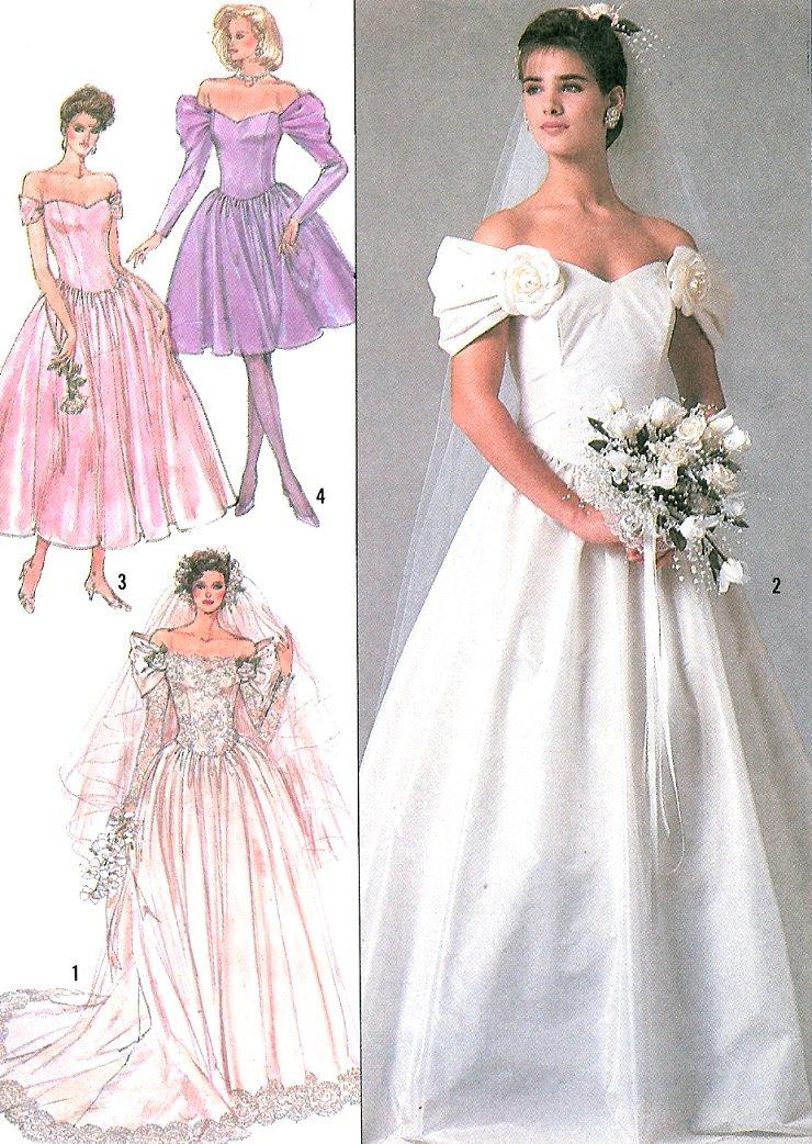Off shoulder wedding dress sewing pattern 16 bridal gown for Wedding dress sewing supplies