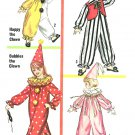 Vintage Clown Jester Costume Sewing Pattern Unisex Boy Girl 8/10 Halloween Theater 6198