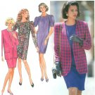Slim Dress Lined Jacket Sewing Pattern 8-14 Suit Easy Above Knee 90s Fashion Career 8110