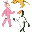 50s Halloween Costume Sewing Pattern 2-4 Rabbit Tiger Cat Duck Child Boy Girl Vintage 4073