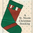Patchwork Christmas Stocking Sewing Pattern Sleigh Geese Vintage Large 20 Inch St Nicole