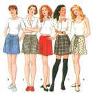 Shorts Skooter Skort Sewing Pattern 4-8 Easy Above Knee Wrap Kilt 5 Designs 9686