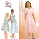 Rare Editions Dress Pattern Girls 7-14 Drop Waist Princess Seam Lace Collar Short Sleeveless 7628