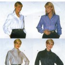 Ellen Tracy Dress Blouse Shirt Sewing Pattern 8-12 Long Sleeve Button Front Cuffs Easy 5208