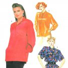 Pullover Shirt Sewing Pattern Sz 14/16 Loose Fit Button Belted Mandarin Collar Kimono Sleeve 2305