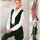 Vest Skirt Pants Sewing Pattern Easy Plus 14 16 18 Elastic Waist Above Ankle 2955
