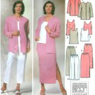 Wardrobe Sewing Pattern Easy Sz 10-18 Jacket Pant Capris Skirt Top Elastic Waist 5687