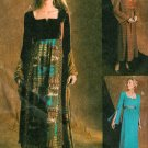 Womans Gypsy Dress Sewing Pattern 6-12 Renaissance Hippie Mod Butterfly Sleeve 4213