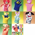 Hand Puppets Sewing Pattern Animals Bear Cat Monkey Pig Rabbit Dog Mouse Toy 4209