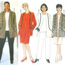 Plus Size Wardrobe Sewing Pattern 16W-20W Unlined Jacket Top Pant Dress Easy 6222