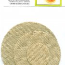 Burlap Diecut Circles Set 6 Adhesive Back 5 4 2 Inch Creative Essentials New Scrapbook Crafts Tags