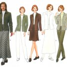 Fall Winter Wardrobe Sewing Pattern 14-18 Lined Suit Jacket Skirt Pants Plus Easy 5085