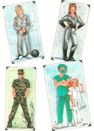Halloween Costume Sewing Pattern Child Spaceman Prisoner Nurse Soldier Doctor 10/12 8890