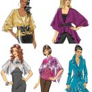 Unlined Jacket Sewing Pattern 4-14 Easy Shawl Kimono Bolero Ruffle Variated Hem 5714