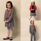 Girls Fall Winter Clothes Sewing Pattern 2-5 Jacket Cardigan Skirt Pants Easy 5844