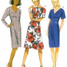 Fitted Dress Sewing Pattern Plus 16-24 Easy Knee Length Sexy V-neck Long Short Sleeve 5851
