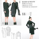 Mod Kimono Dress Wrap Sewing Pattern Vest Scarf Flounce Sleeve 8-20 Pullover Raised Bodice 7133