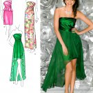 Formal Dress Sewing Pattern 4-12 Wrap Bust Short Long Overskirt Strapless Sexy Evening Prom 0222
