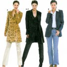 Suit Jacket Sewing Pattern 12-24 Plus Tailored Long Below Hip Lined Coat Vest 8300
