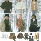 Poncho Sewing Pattern Plus 18-24 Capelet Vest Scarf Head Band Easy 4781