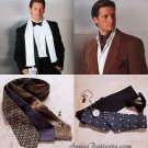Men's Necktie Scarf Sewing Pattern Vogue Ascot Bow Tie Cummberbund 7104