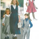 Girls Jumper Dress Jumpsuit Sewing Pattern Vogue 4-6 Easy Pullover Button Front Pant Uniform 7952