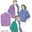 Womens Lined Coat Sewing Pattern XS-3XL Flight Jacket Zip Front Concealed Pockets 9700