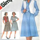 Button Front Dress Vest Sewing Pattern 16 Vintage Shirtdress Below Knee Easy Long Short Sleeve 5496