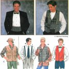 Mens Vest Bow Tie Cummerbund Sewing Pattern XS-XL Suspenders Hunting Fishing Hat Bucket 9345