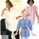Tunic Shirt Sewing Pattern 18/20 Plus Button Front Kimono Sleeve Ruffle Shirt Vintage 3408