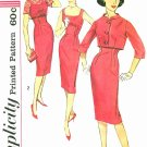 50s Sheath Dress Sewing Pattern Sz 11 Crop Bolero Jacket Slim Fit Jackie O 3062