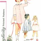 Girls Sleeveless Dress Coat Sewing Pattern 3 Vintage Jacket Above Knee Easter Church Full Skirt 5374