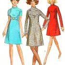 Sheath Dress Sewing Pattern 10 A-line Twiggy 60s Above Knee Mandarin Collar 7755