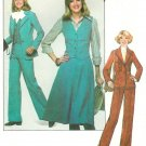 Misses 70s Leisure Suit Sewing Pattern Sz 12 Mod Jacket Blazer Pants Skirt Vest 8155