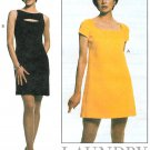Laundry Shelli Segal Dress Sewing Pattern 10-14 Above Knee Sleevless Cap Sleeve Fitted 8738